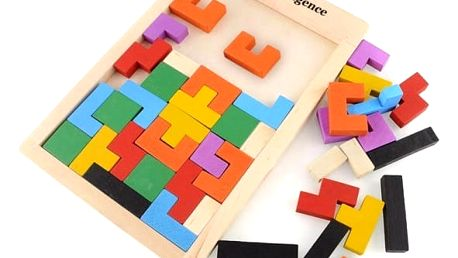 Dřevěný hlavolam pro děti - skládačka
