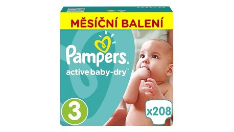Plenky Pampers Active Baby Monthy Box S3 208 ks