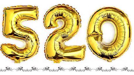 Fóliové balonky ve tvaru číslic