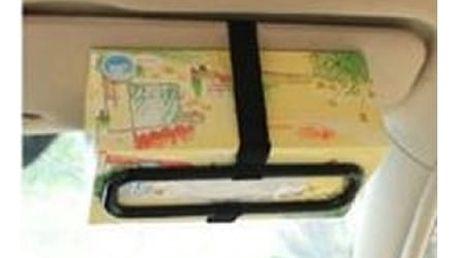Praktický držák kapesníků do Vašeho auta v černé barvě.