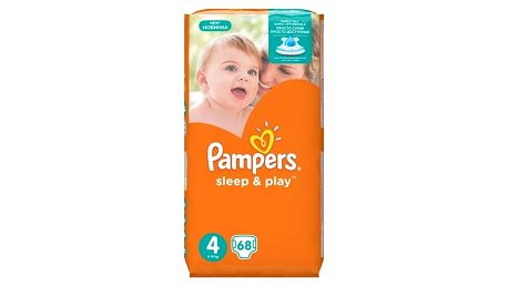Plenky Pampers Sleep&Play 4 MAXI, 68ks