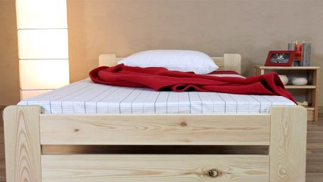 Masivní dřevěná postel Verona s matrací i roštem nebo bez matrace