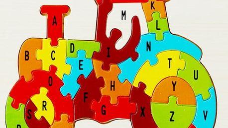 Dřevěná skládačka s abecedou pro kluky i holky