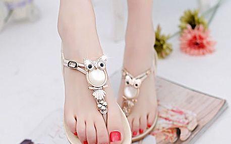 Letní sandálky se sovičkami - 5 barev