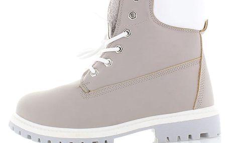 Šedé kotníkové boty Street Style