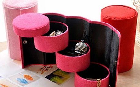 Rozložitelná šperkovnice v tubusu - 4 barvy