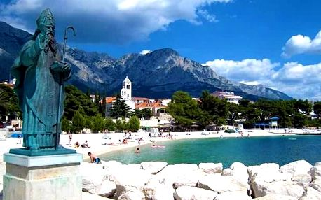 8denní pobyt v letovisku Baška Voda v Chorvatsku pro 1 osobu včetně dopravy