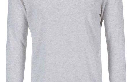 Béžový svetr s šedým žíháním Selected Dome