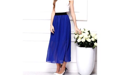 Letní barevná šifonová sukně