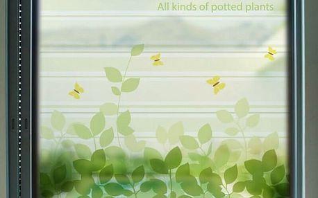 Samolepka na sklo v různých velikostech - Zahrada s motýlky