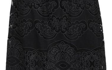 Černá sukně s perforovanými detaily VILA Bellina