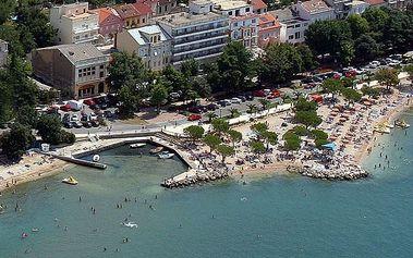 Chorvatsko - Crikvenica na 10 dní, polopenze s dopravou autobusem