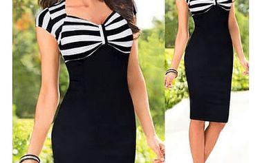 Pouzdrové pruhované šaty - 5 velikostí