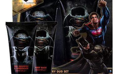 DC Comics Batman v Superman sprchový gel dárková sada U - sprchový gel 150 ml + šampon & kondicionér 2v1 150 ml
