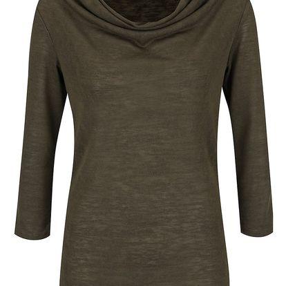 Khaki tričko s 3/4 rukávem VILA Sumi