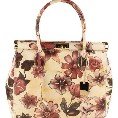 Béžová kožená kabelka Matilde Costa Sapporo - doprava zdarma!