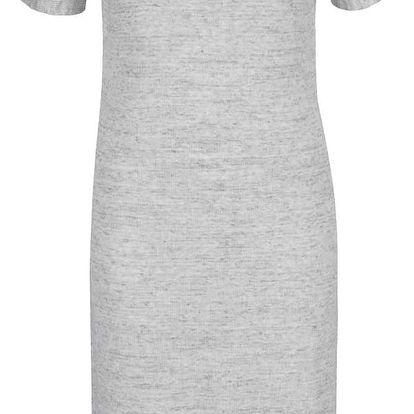 Světle šedé žíhané šaty se šněrováním na zádech VILA Lesly