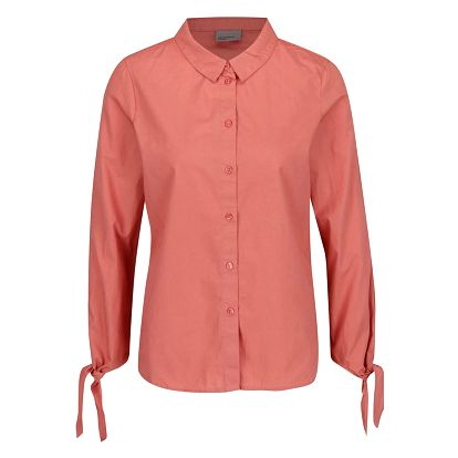 Růžová košile s uzlíky na rukávech VERO MODA New Crome