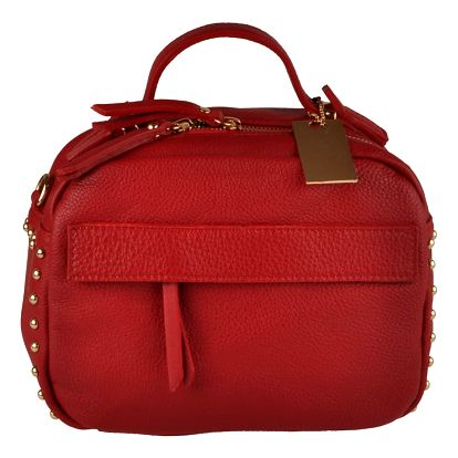 Červená kožená kabelka Matilde Costa Rafaela - doprava zdarma!