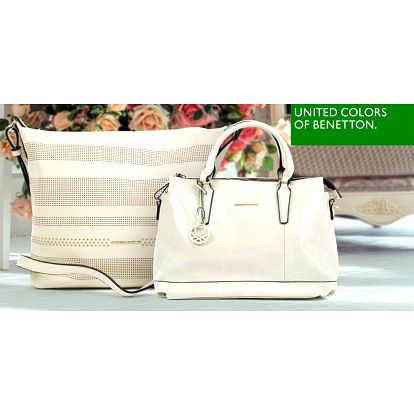 Krémové kabelky italské značky Benetton