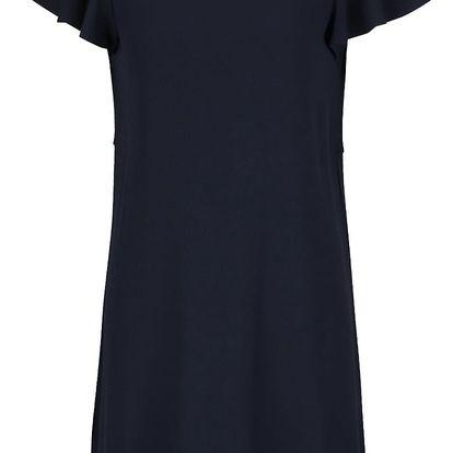 Tmavě modré šaty s volánem na zádech VILA Alda