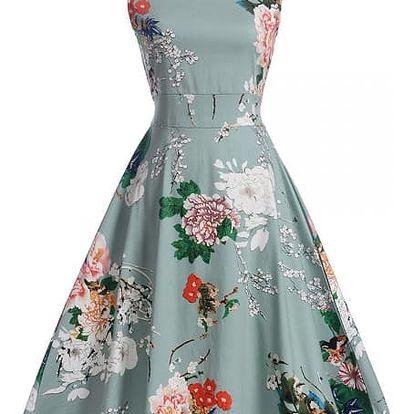 Květinové retro šaty z 50. let - 13 variant