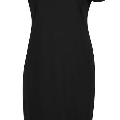 Černé šaty s volánem VILA Hemruffle