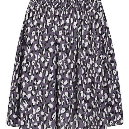 Krémovo-šedá vzorovaná sukně VILA Kenly