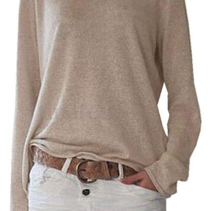 Dámské ležérní triko s dlouhým rukávem - více barev