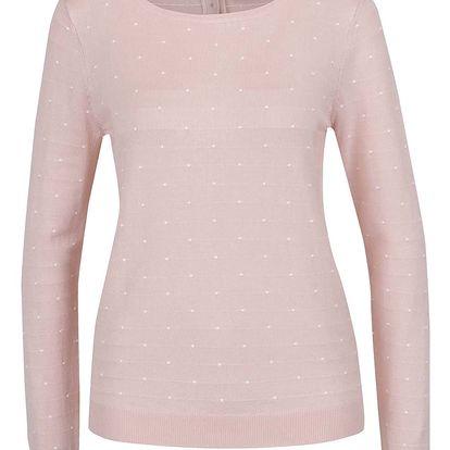 Růžový puntíkovaný svetr s knoflíky na zádech Vero Moda Glory