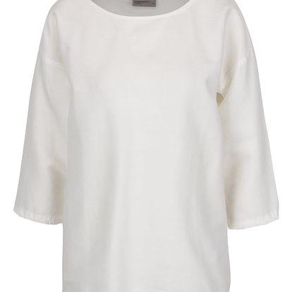 Krémové volné tričko VERO MODA New Halie