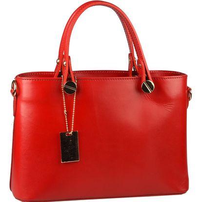 Červená kožená kabelka Matilde Costa Banusa - doprava zdarma!