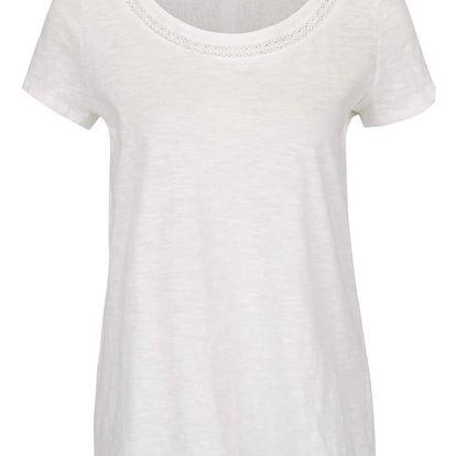Krémové volné tričko s všitým dílem na zádech VILA Ferma