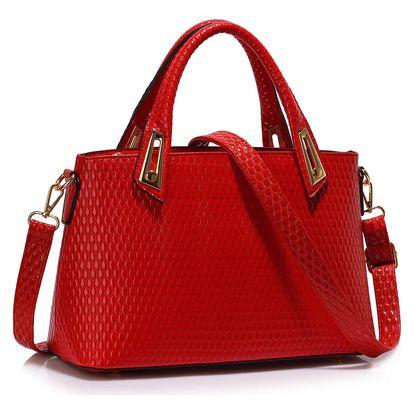 Červená kabelka L&S Bags Belleville