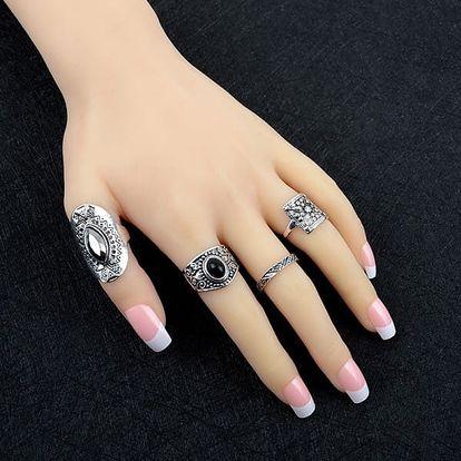 Dámský prsten v bohémském stylu - 4 ks