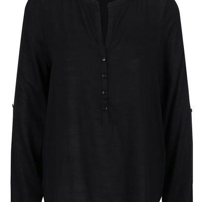 Černá halenka s dlouhými rukávy Vero Moda Fay