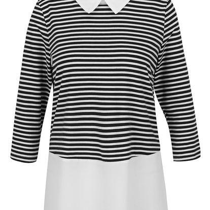Krémovo-černý top s všitou košilí Vero Moda Kacy