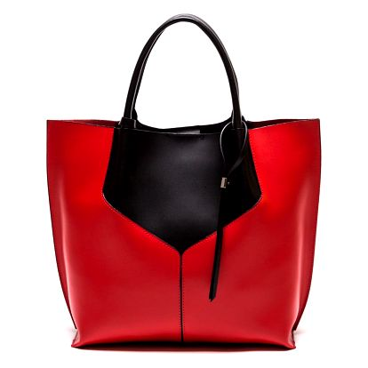 Kožená kabelka Anna Luchini 86,červená - doprava zdarma!