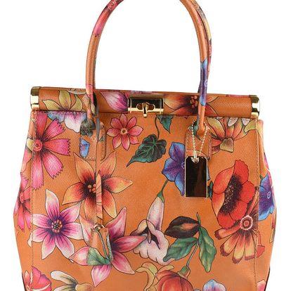 Hnědá kožená kabelka Matilde Costa Sapporo - doprava zdarma!