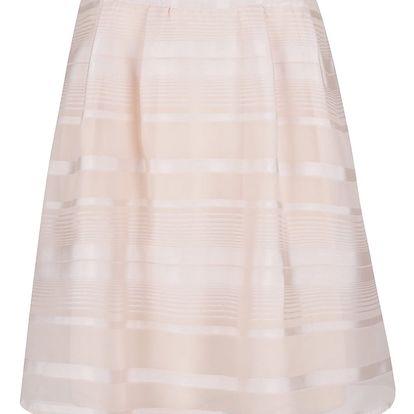 Světle růžová pruhovaná sukně VILA Falda