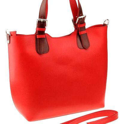 Červená kožená kabelka Matilde Costa Laus - doprava zdarma!