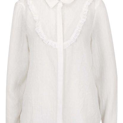 Krémová košile s volánky VERO MODA Jaquari