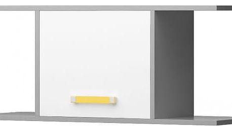 Diego 15 - Police (přední strana bílá/šedé boky/žlutý úchyt)