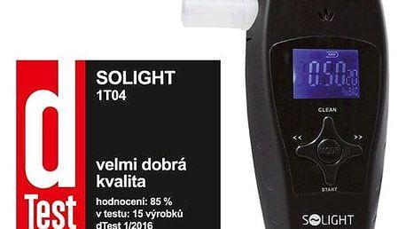 Alkohol tester Solight 1T04 profi, 0,0 - 3,0‰ BAC, citlivost 0,1‰, automatické čištění