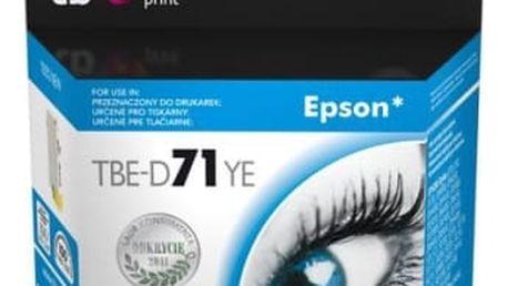 Inkoustová náplň TB Epson T0714Y - kompatibilní (TBE-D71YE) žlutá kompatibilní