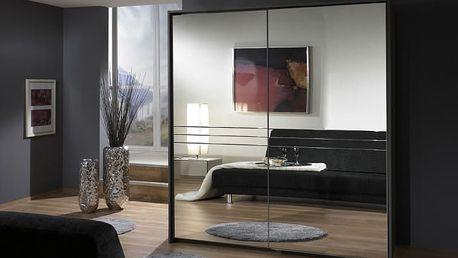 Medina - Šatní skříň 2, 2x posuvné dveře (lava černá)