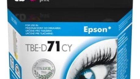 Inkoustová náplň TB Epson T0712C - kompatibilní (TBE-D71CY) modrá kompatibilní