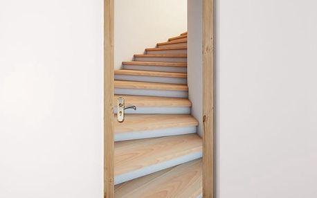 3D samolepka na zeď - schody