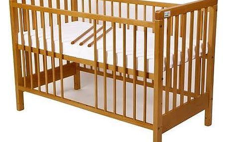 Postýlka dětská dřevěná For Baby Věra vyndavací příčky buk Matrace do postýlky For Baby 120x60 cm - bílá (zdarma)