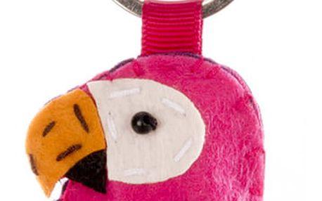 Fashion Icon Klíčenka papoušek ruční práce HANDMADE